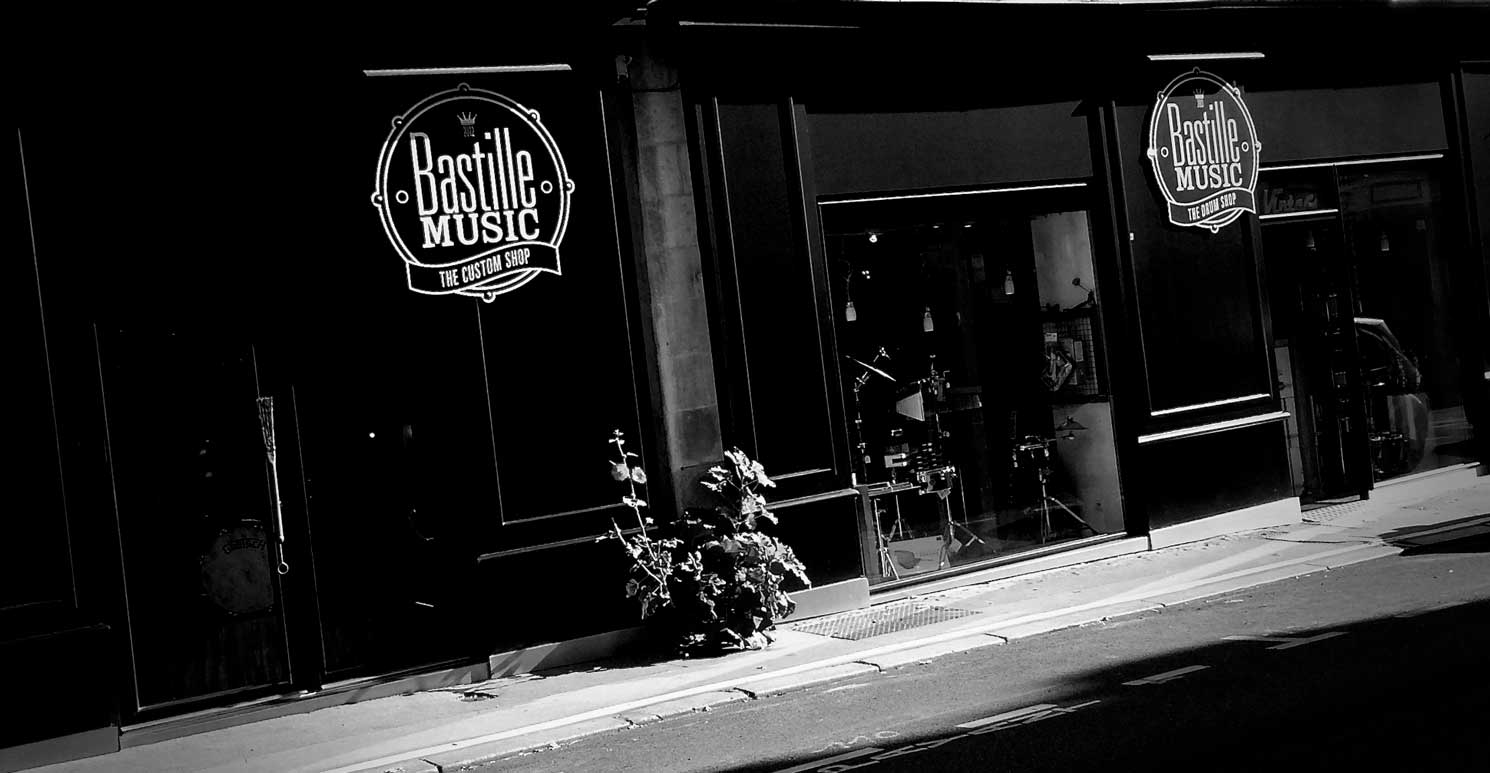 Facade magasin bastille music